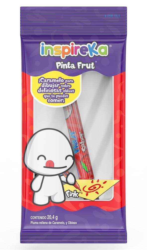 Pluma de caramelo pinta frut + 3 obleas