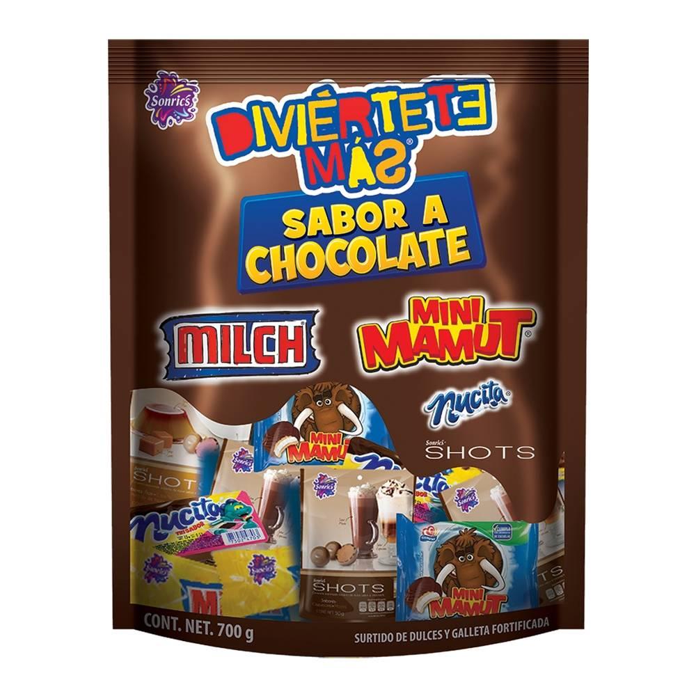 Surtido de dulces Diviértete más sabor chocolate