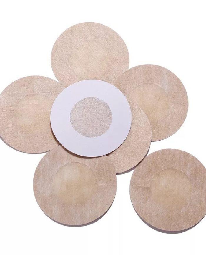 Pezonera tela 5 pares redonda beige 5 pares, talla única