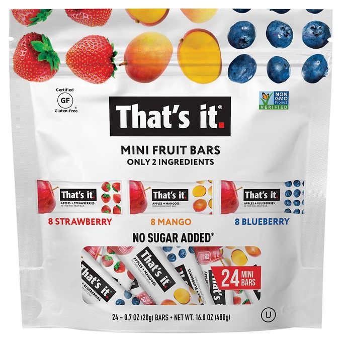 Barras de frutas thats it