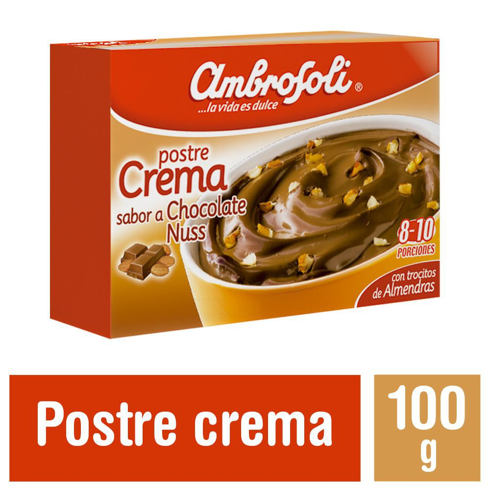 Postre Crema de Chocolate