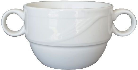 Taza consomé prima porcelana blanco 350 ml