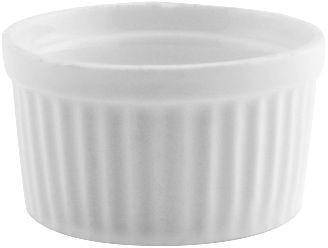 Set pocillo soufle rdo chico porcelana blanco 6 unidades