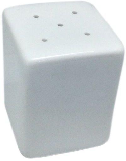 Salero cubo blanco porcelana 6x4,5x4,5cm