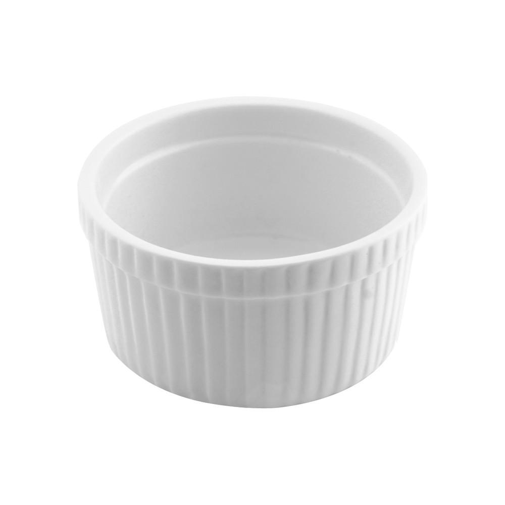 Set pocillo soufle rdo mediano porcelana blanco 6 unidades
