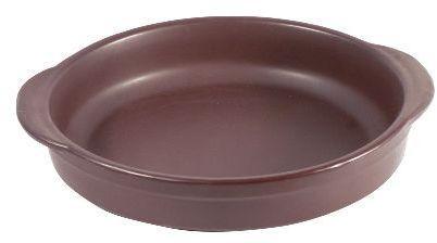 Paila c/asas ceramica cafe 22x5 cm
