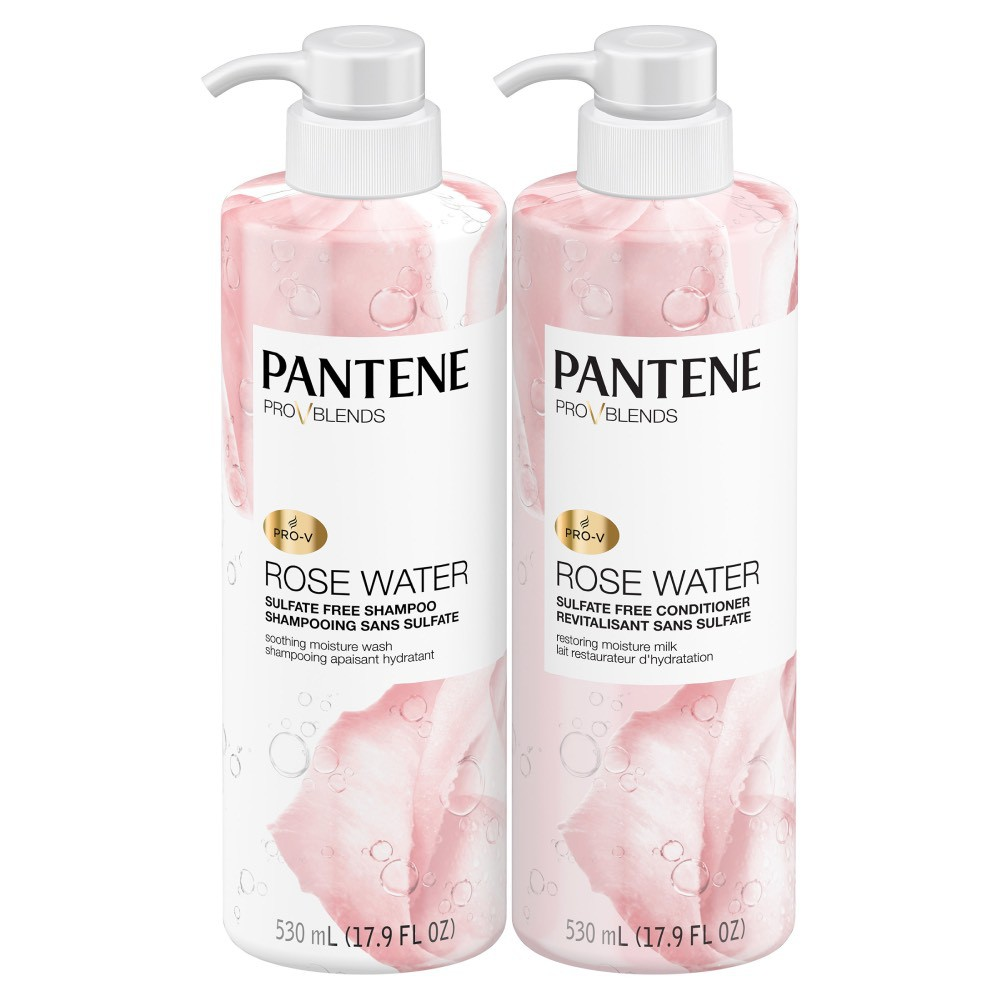 Pro-V blends rose water shampoo and conditioner