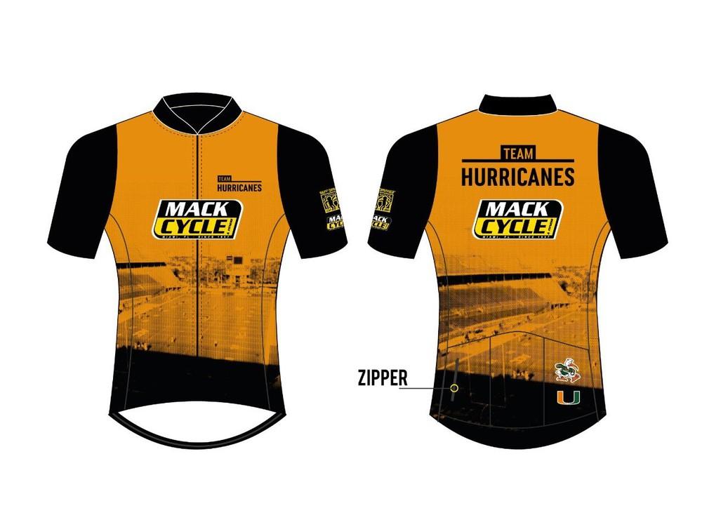 Women's mack x team hurricanes cycling jersey 1 pc