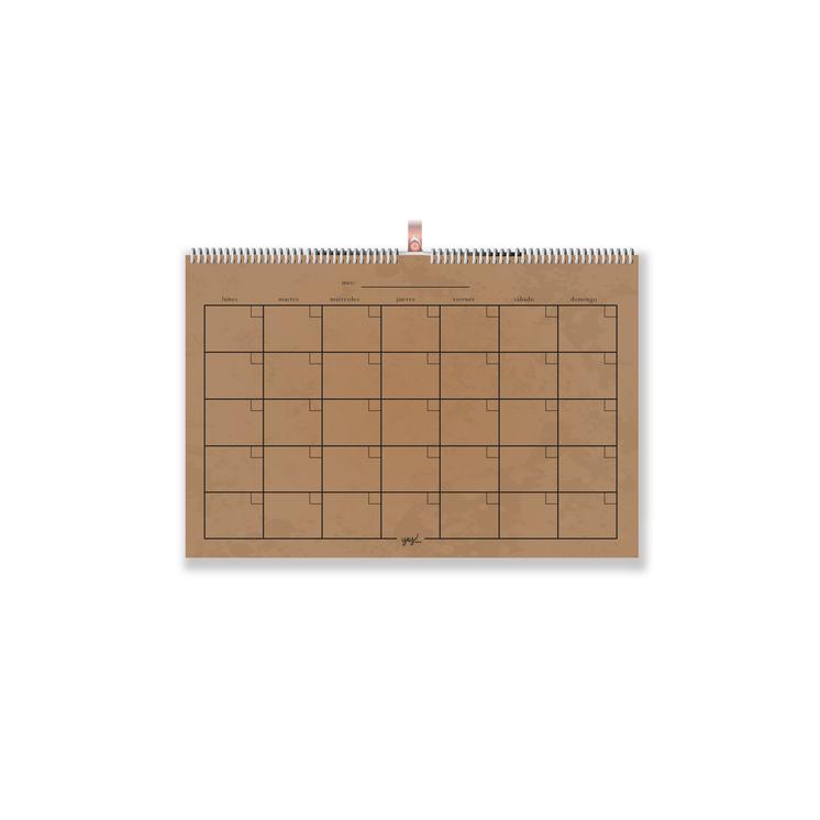 Calendario 35x50cm kraft Medidas 35x50 cm