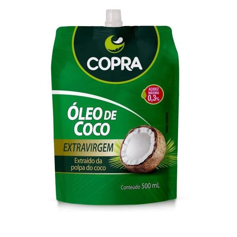 Oleo de coco extra virgem stand póuch