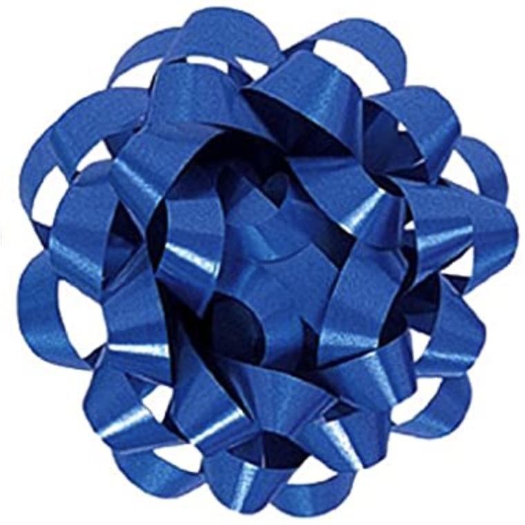 Moño de regalo mediano azul
