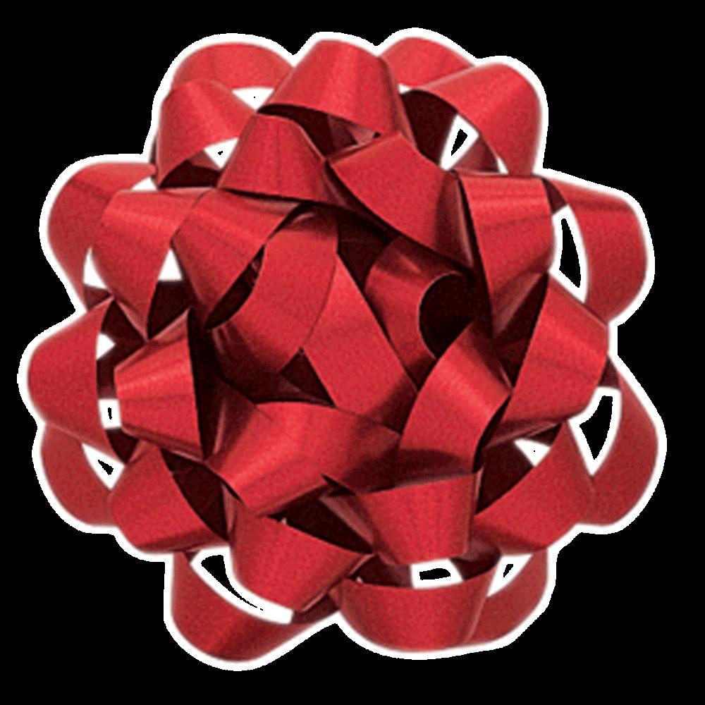 Cinta regalo grande metalizada - roja