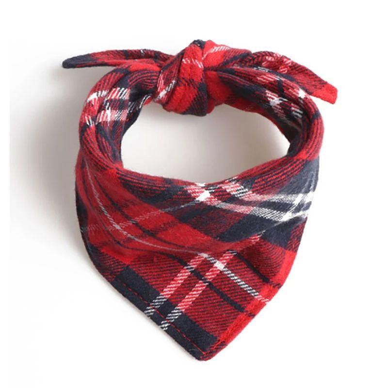Bandana escocesa rojo (S)