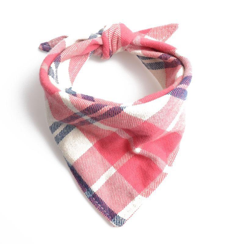 Bandana escocesa rosado (S)