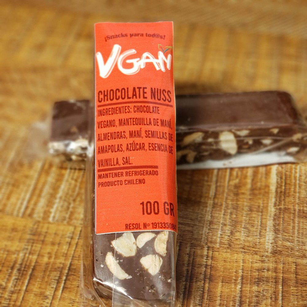 Barra vegana de chocolate nuss