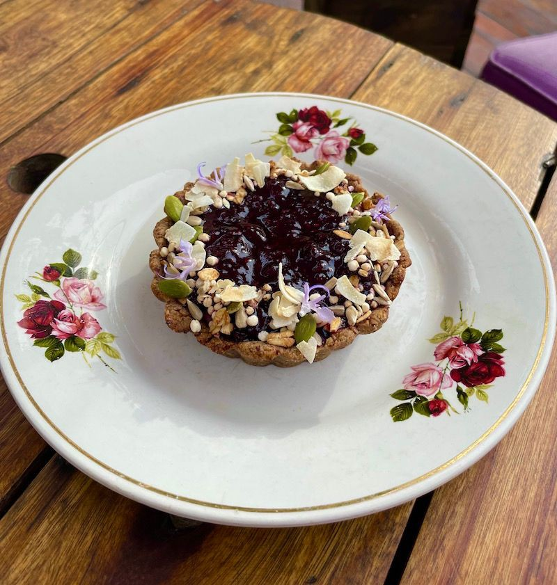 Pie de berries vegano & sin gluten. sin soya/aplv (tozo) tarta por trozo