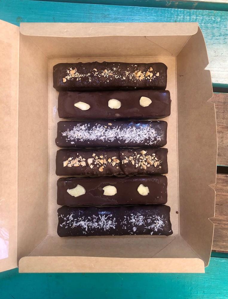 Snickers Box, mix 6 barritas veganas, sin gluten, libre de soya/aplv caja 6 barritas