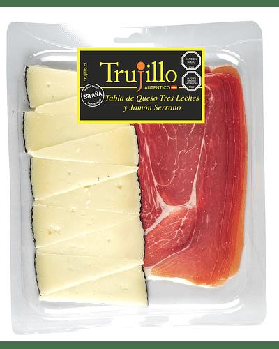 Tabla queso trujillo tres leches y jamón serrano trujillo 150 gr