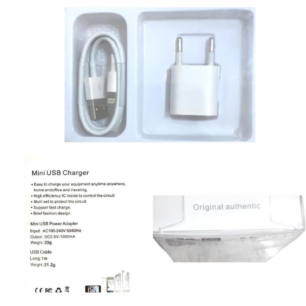 Cargador iPhone con cable lightning 1 set