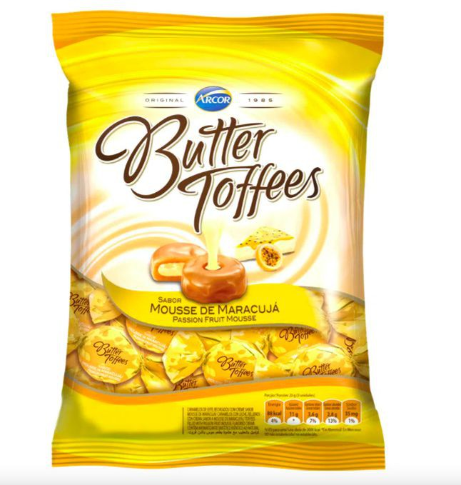 Bala sabor mousse de maracujá Butter Toffees