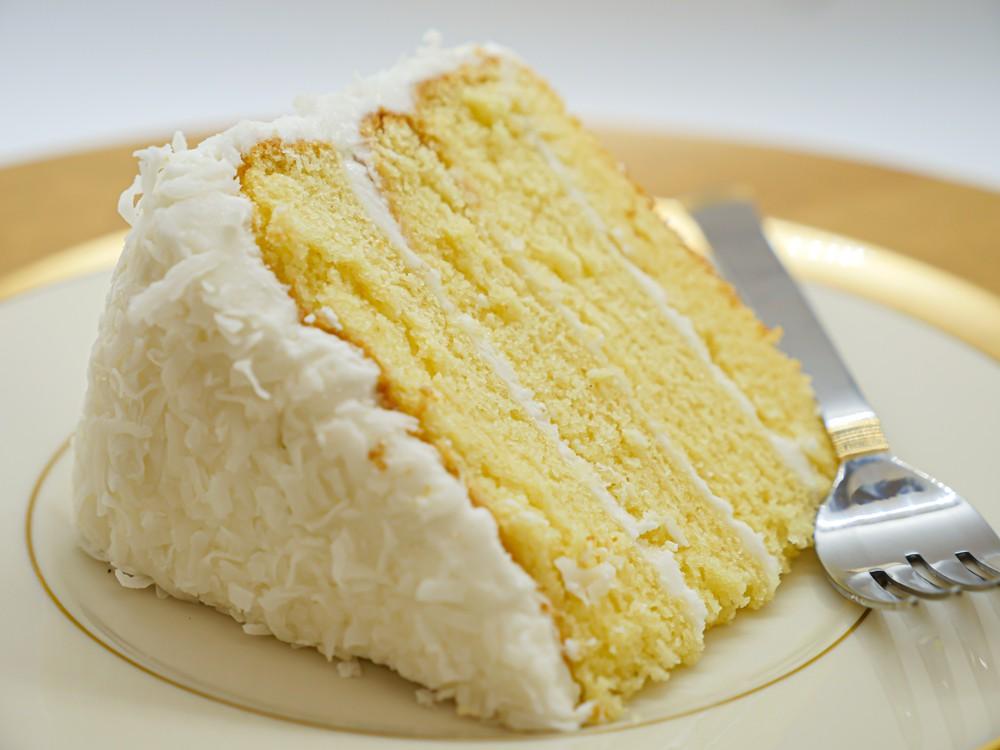 Coconut cake slice Slice
