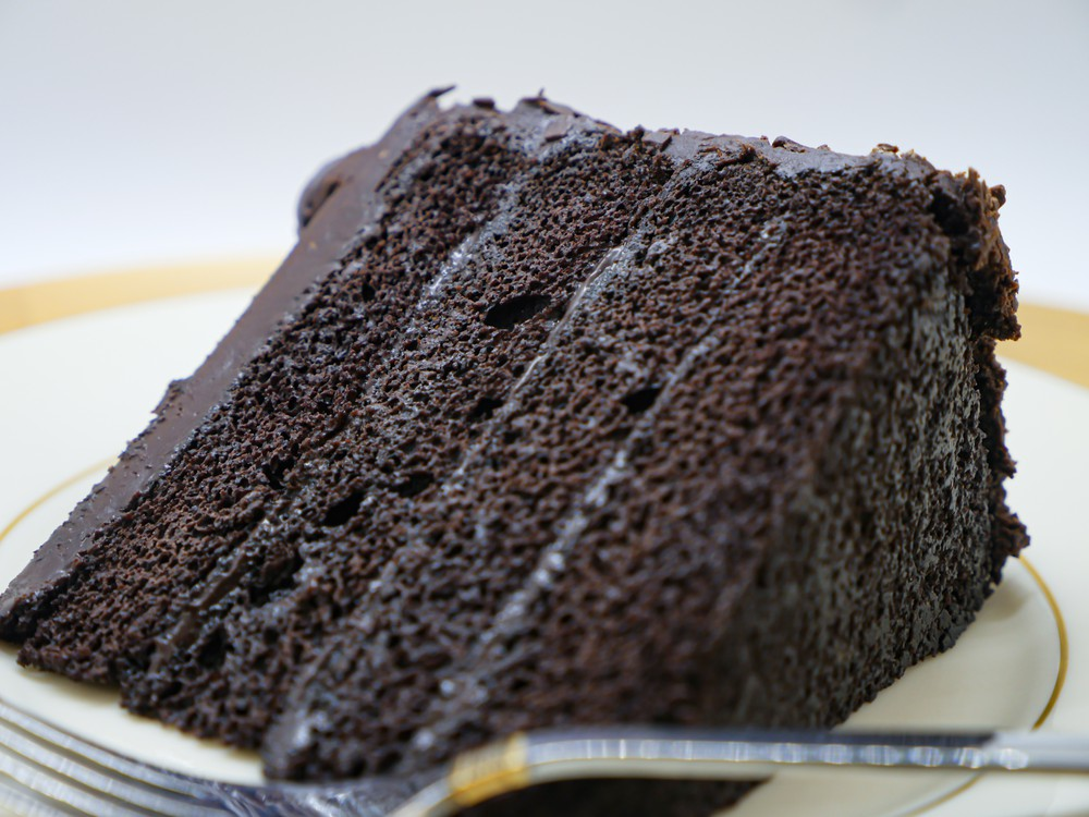 Double chocolate cake slice Slice