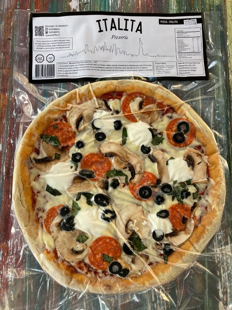 Italita familar Pizza familiar de 32 cm de diámetro congelada al vacío