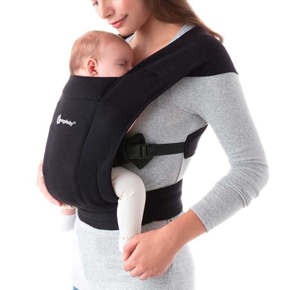 Portabebés embrace - pure black Recién nacido a 11.3kg