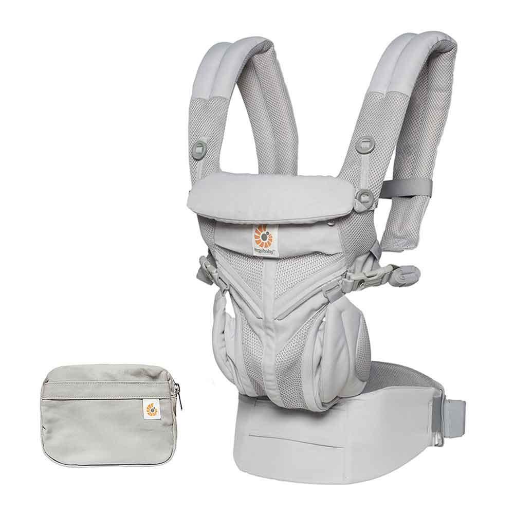 Portabebés omni cool air mesh - pearl grey Recién nacido a 20kg