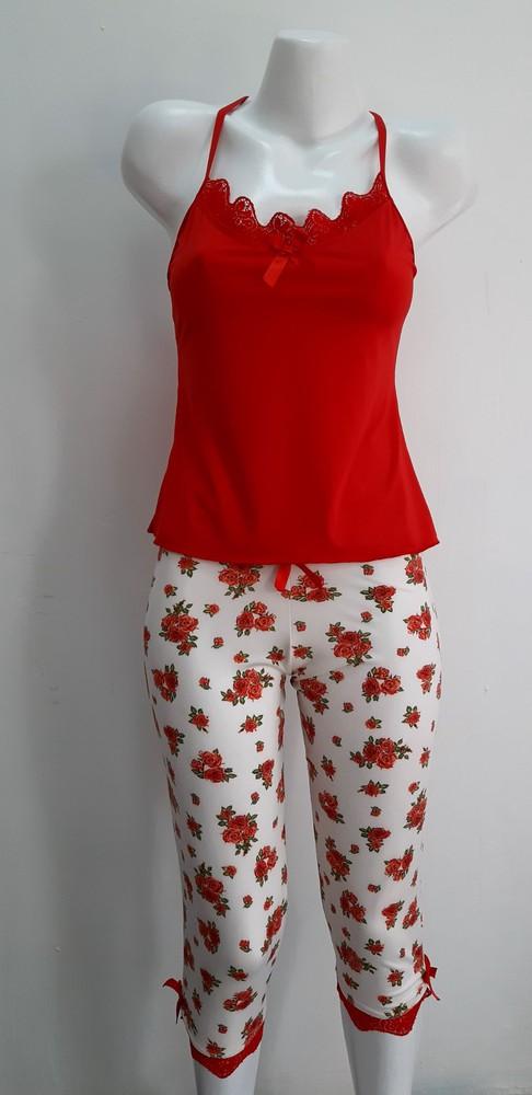 Pijama Capri Rojo
