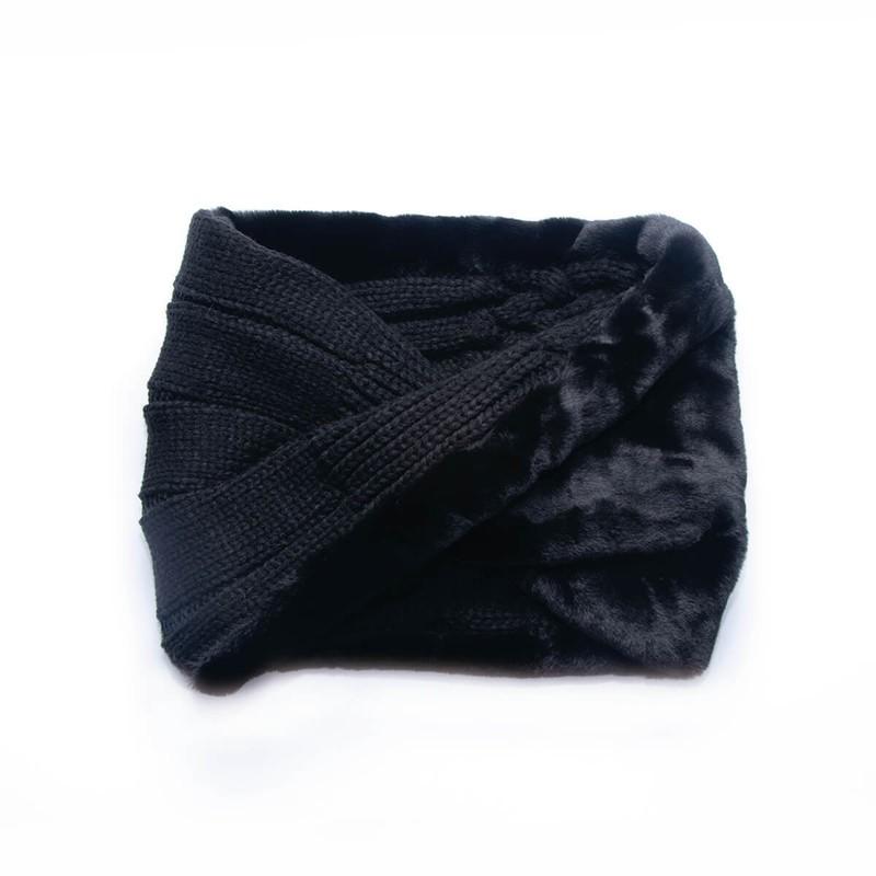 Loop tejido peludo negro clásico 40 cm de largo x 25 cm de ancho.