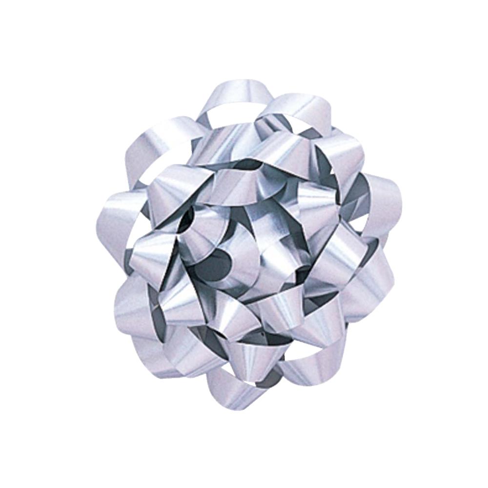 Cinta regalo grande metalizada - plata