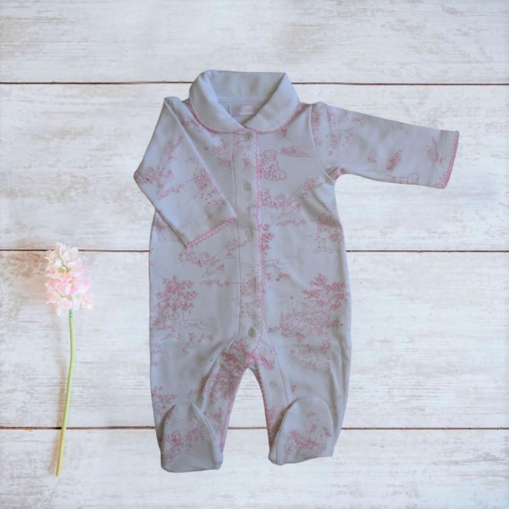 Enterito nala rosado niña Talla: 3-6 meses