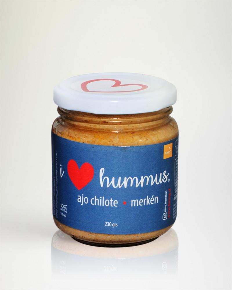 Love hummus ajo chilote y merkén