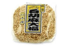 White sesame rice cake stuffed with red sweet bean / 白胡麻大福  110g