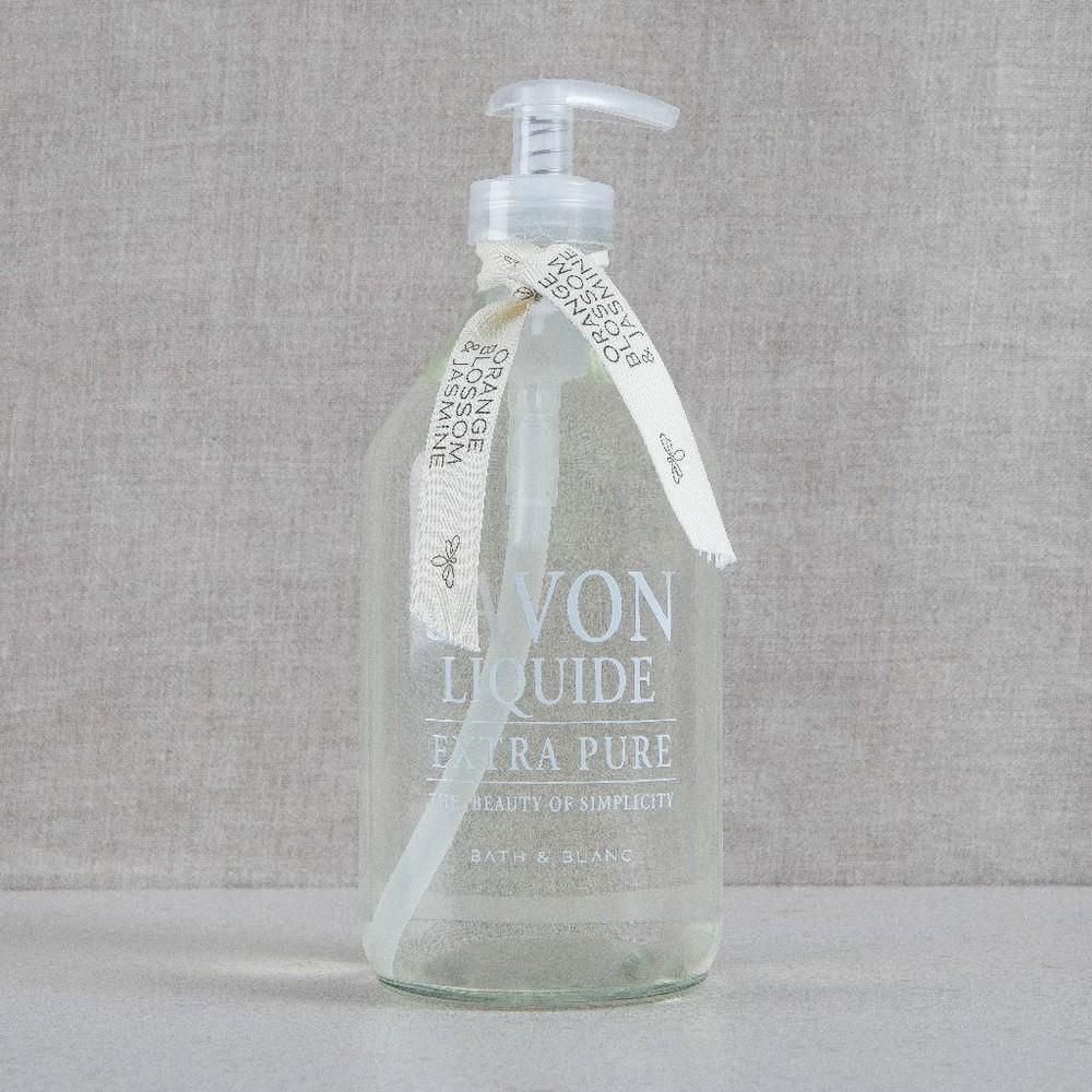 Jabón clásico orange blossom & jasmine Botella de vidrio 500ml 25x8cm