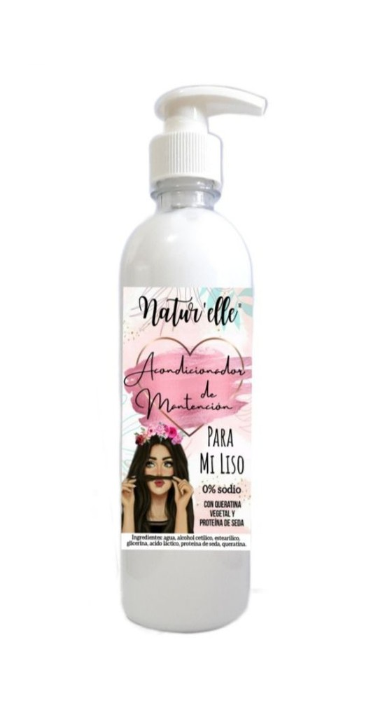Acondicionador mantencion liso Botella dispensadora 500 ml