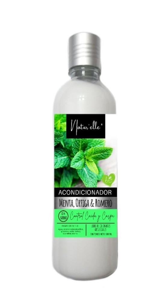 Acondicionador menta, ortiga y romero Botella dispensador 500 ml