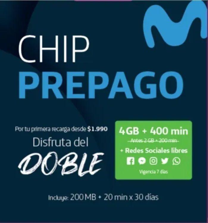 Chip prepago 1 u