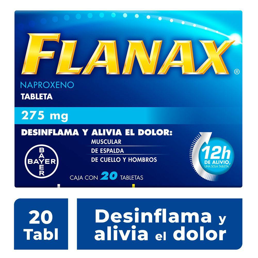 Flanax naproxeno sódico tabletas  275mg