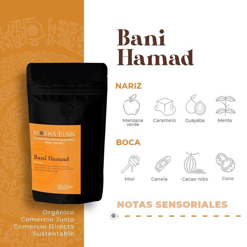 Bani hamad   en granos o molido  café de especialidad de yemen 250gr