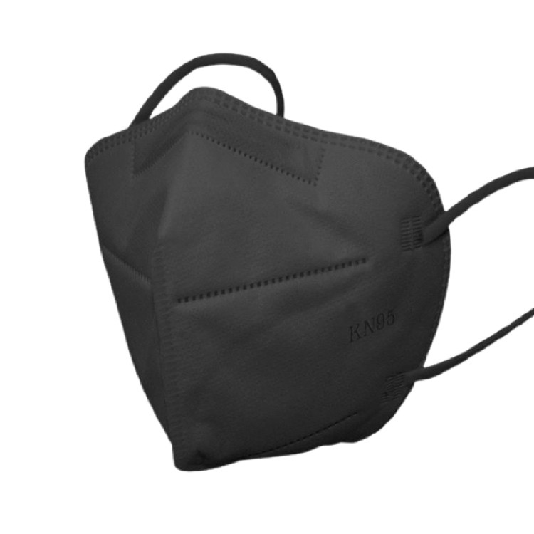 Mascarillas kn95 negra adulto (certificadas) Pack de 10 unidades