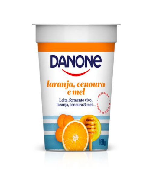 Iogurte de laranja, cenoura e mel