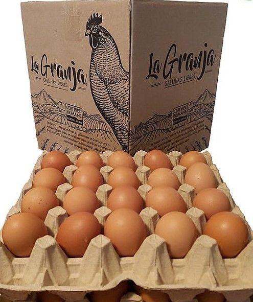 Huevos de gallina libre tamaño extra en bandejas reciclados Bandeja 20 Un
