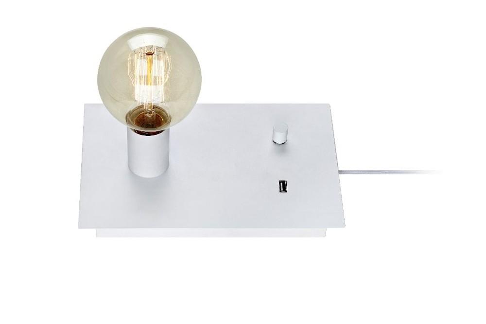 Lámpara de Mesa Load Blanco Con Puerto Usb