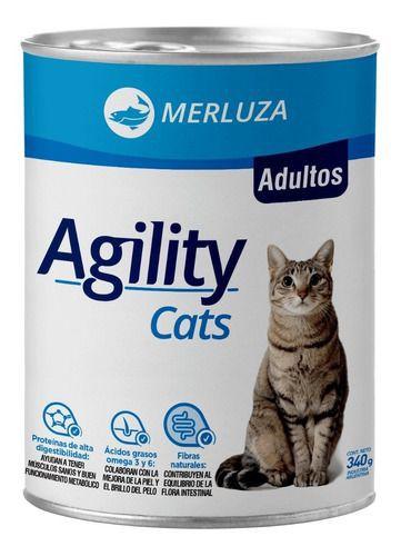 Lata alimento húmedo para gatos adultos 340gr sabor merluza