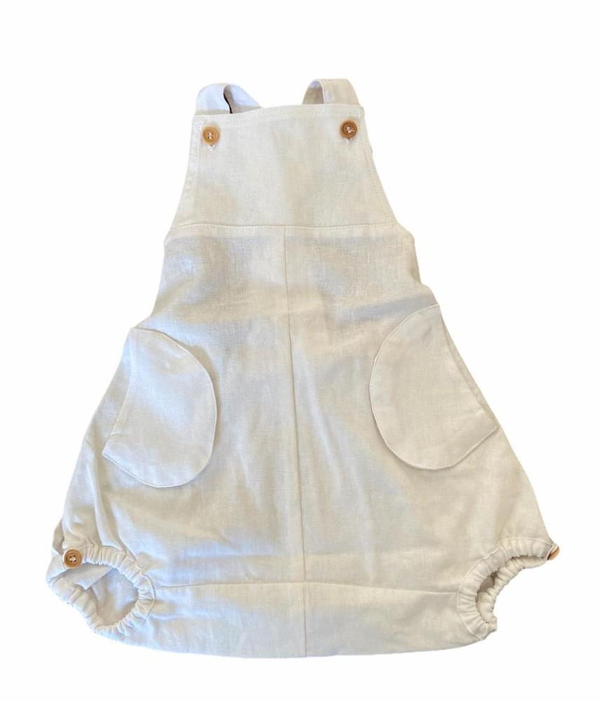 Ranita de lino blanco 3-6m