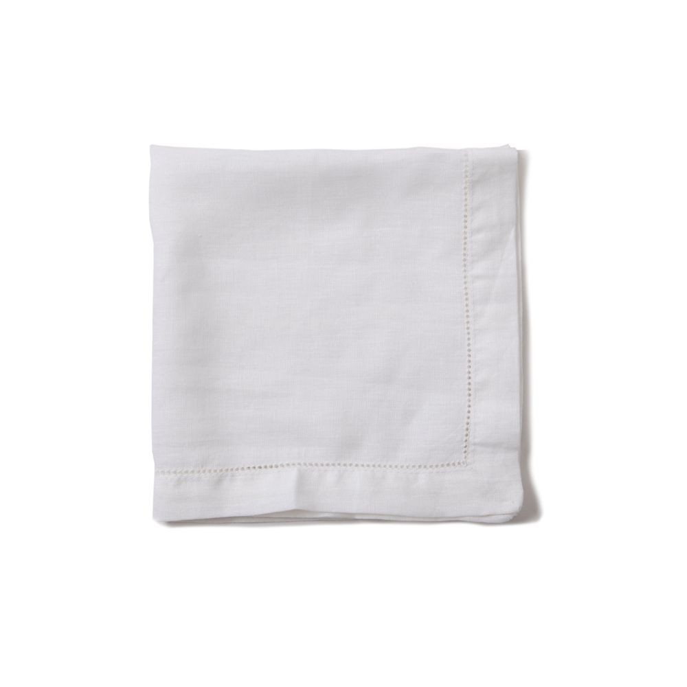 Servilleta lino blanca 45X45
