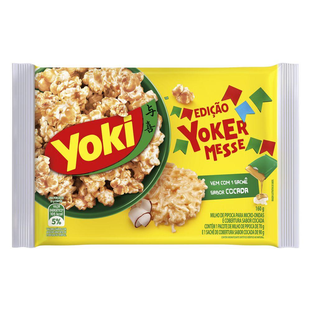 Pipoca para microondas edição Yokermesse sabor cocada