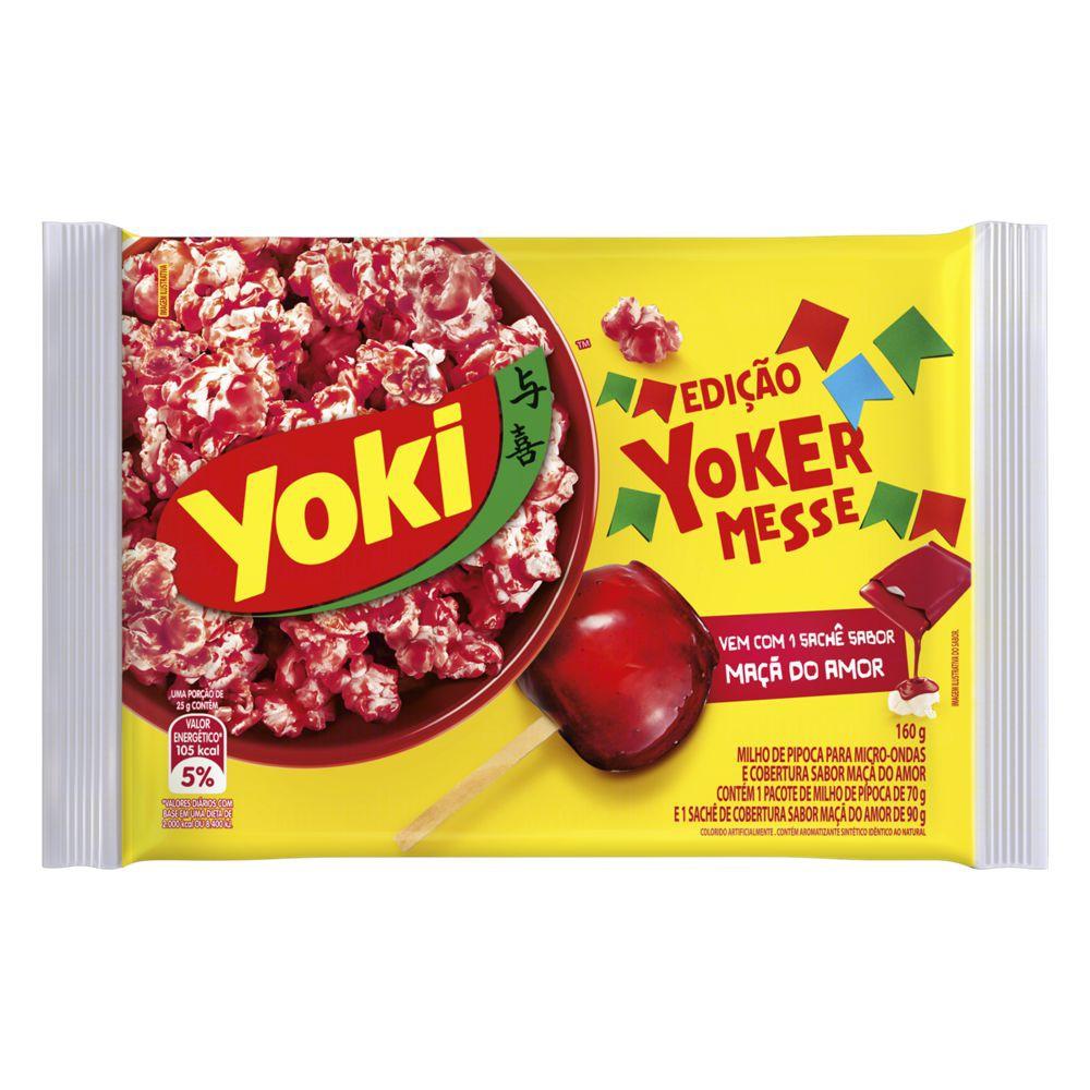 Pipoca para microondas edição Yokermesse sabor maçã do amor